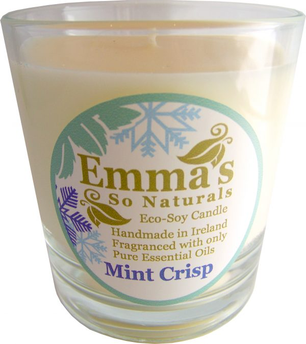 Seasonal fragrance | Emma's So Naturals - Mint Crisp Glass Tumbler | Chemical Free