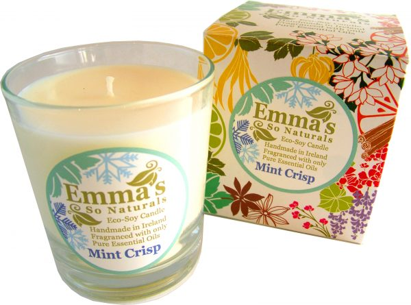Seasonal fragrance | Emma's So Naturals - Mint Crisp Glass Tumbler & Box | Chemical Free